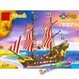 КОНСТРУКТОР BRICK 308 Корабль Черная жемчужина серия 'Пираты' 870 деталей (аналог LEGO)
